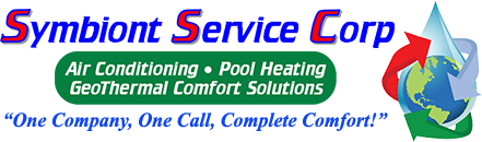Symbiony Service Corp Logo, tagline: Air Conditioning - Pool Heating GeoThermal Comfort Solution