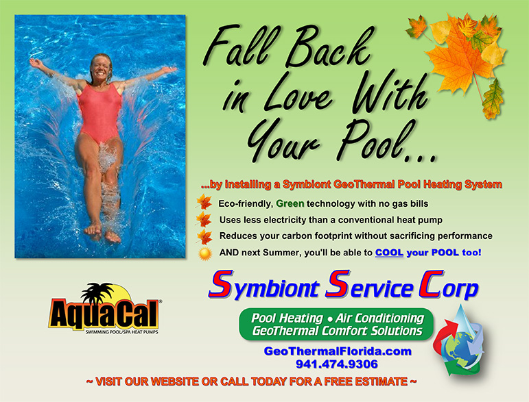 Fall Back in Love with your pool - GeoThermal Pool Heating ad