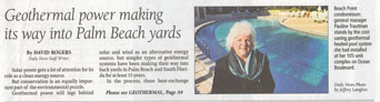 Palm Beach Daily News GeoThermal Article