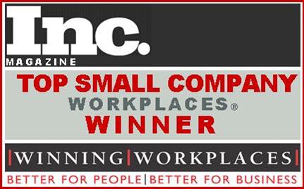 Inc Magazine Winning Workplaces Award