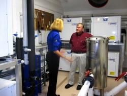 Enclave of Palm Beach GeoThermal Pool Heaters in Mechanical Room