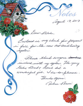 Testimonial Letter from Arlene Bucci