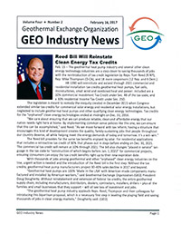 Article - Reed Bill will Reinstate Clean Energy Tax Credits