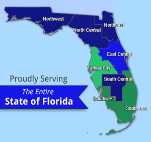 Map of Florida - Proudly Serving the Entire State of Florida