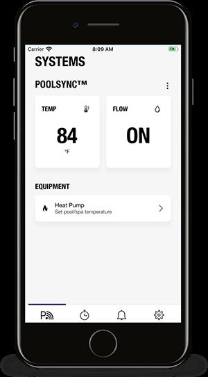 PoolSync App - System controls