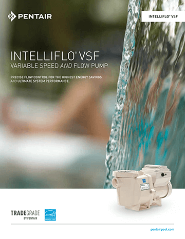 Pentair IntelliFlo VSF Pool Pump Brochure Cover