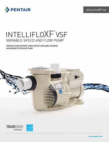Pentair IntelliFloXF VSF Pool Pump Brochure Cover