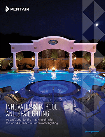 Pentair LED pool, spa and landscape lighting brochure cover