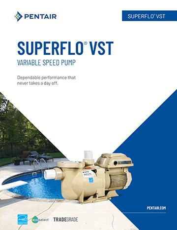 Pentair Superflo VST Pool Pump Brochure Cover