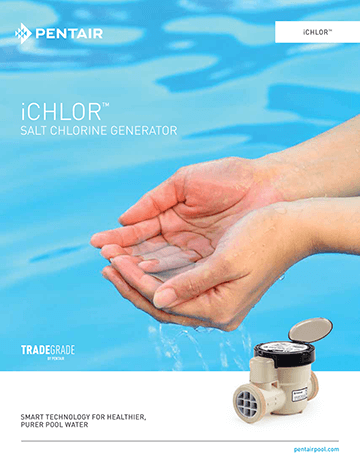 Pentair iChlor Salt Chlorine Generator brochure cover