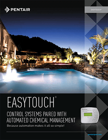 Pentair Easy Touch Control Systems Paired with Automated Chemical Management Brochure Cover