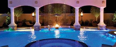 Pool with underwater lighting