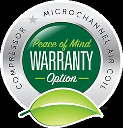 Compressor - Microchannel Coil Peace of Mind Warranty Option badge