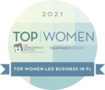 Award Badge: Top Women-Led Business In FL 2021