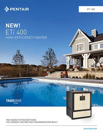 Pentair ETi 400 high efficiency gas heater brochure cover