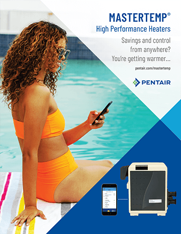 Pentair MasterTemp high performance gas heater brochure cover