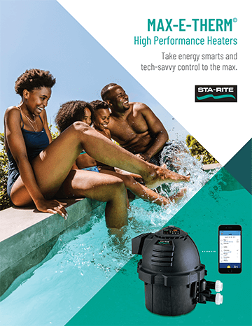 Pentiar Sta-Rite Max-E-Therm high performance gas pool heater brochure cover